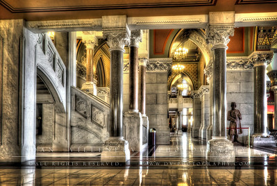 Staircase and halls in the State Capitol.