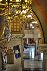 A view towards the Hall of Flags in the State Capitol.