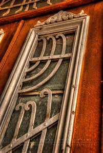 Antique door panel