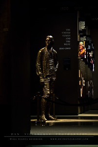 This statue of Thomas Jefferson is the center piece of the museum at the base of the St. Louis Arch.