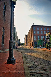 Looking up Morgan Street from the Old Spaghetti Company.