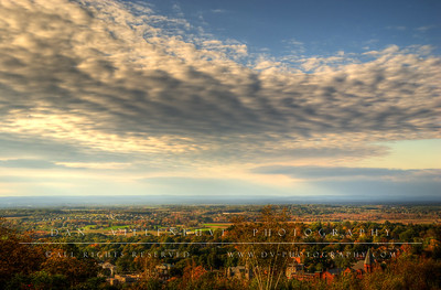 Rockville and Ellington, CT as seen from the top of Fox Hill in Vernon.