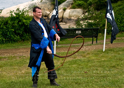 """Wonderfool"" Joel Newlon performs at the New England Pirate Faire, Gloucester, MA. June 20, 2009"