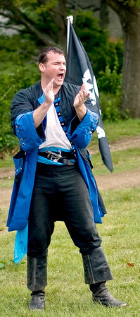 """""""Wonderfool"""" Joel Newlon performs at the New England Pirate Faire, Gloucester, MA. June 20, 2009"""