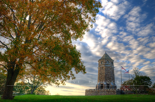 Fox Hill Tower at sunset Vernon, CT