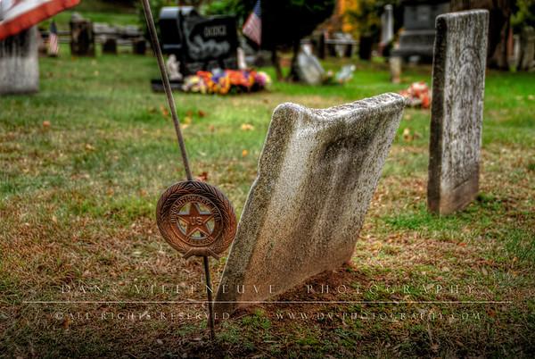 Revolutionary War Veteran Marker Elmwood Cemetery Vernon, CT