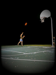 Shooting hoops at 10PM (De Soto, Missouri) Little Photo