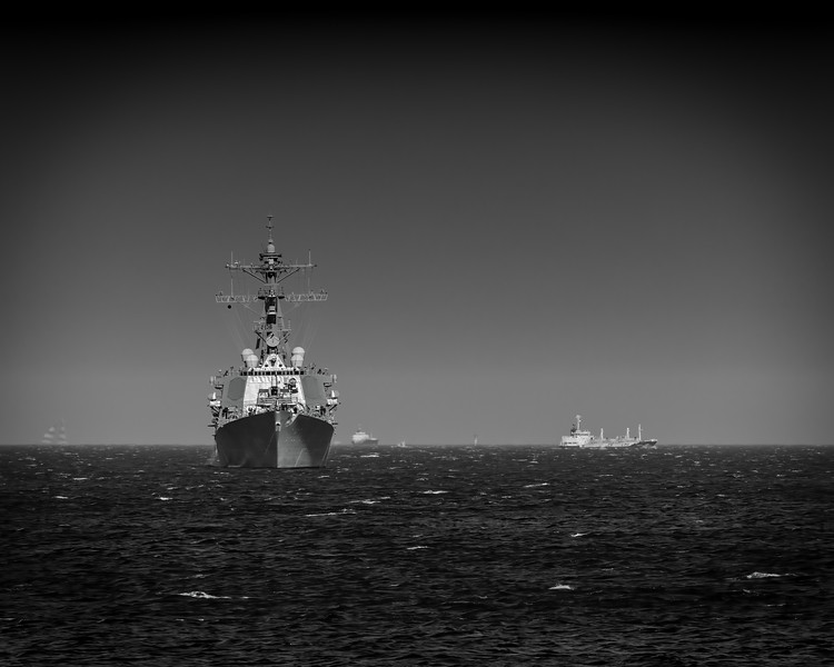 Destroyer in the Bay