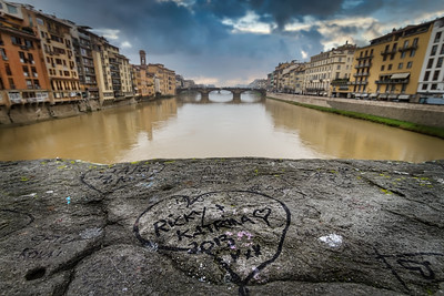 Graffiti over the Arno