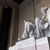 Looking up at Abe