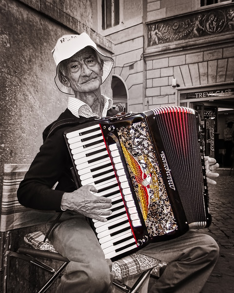 Old Man at Trevi