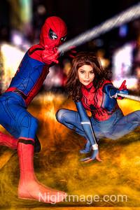 Spiderman and Spidergirl