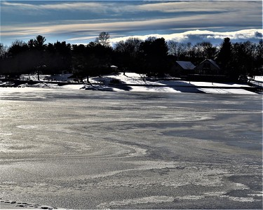 Ice on Lake Heritage - by Pete Vogel