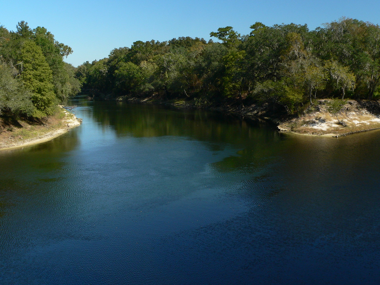 Suwannee River State Park: the Withlacoochee River meets the Suwannee River<br /> PHOTO BY Ken Dammiller