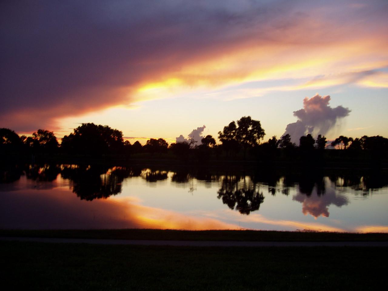 Sunrise, morning walk at Okeeheelee<br /> PHOTO by Paul Cummings