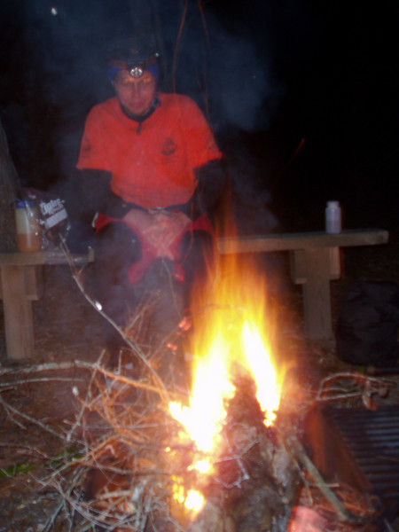 Mark Stanfill of the Cumberland Trail Conference at a campsite inside Eglin AFB<br /> PHOTO by Jeffrey Hunter