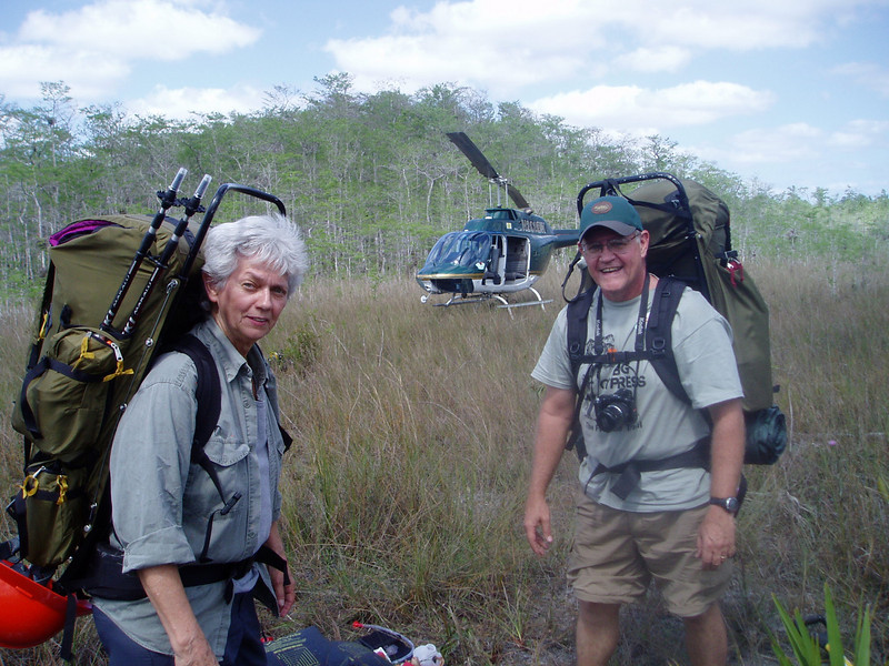 An easy hike into Big Cypress with the help of the F-Troop Helicopter! <br /> PHOTO by Tom Hammond