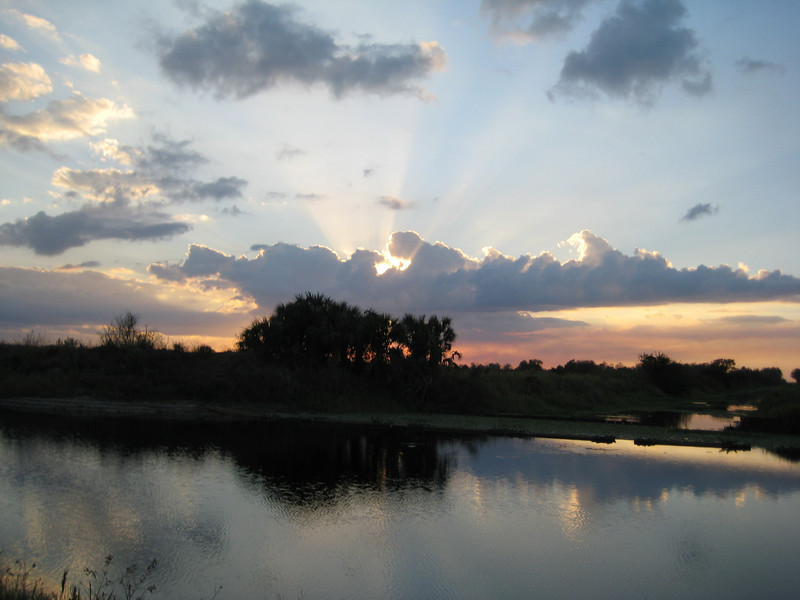 Canal Sunset along the Florida Trail<br /> Photo by Donna Stowe