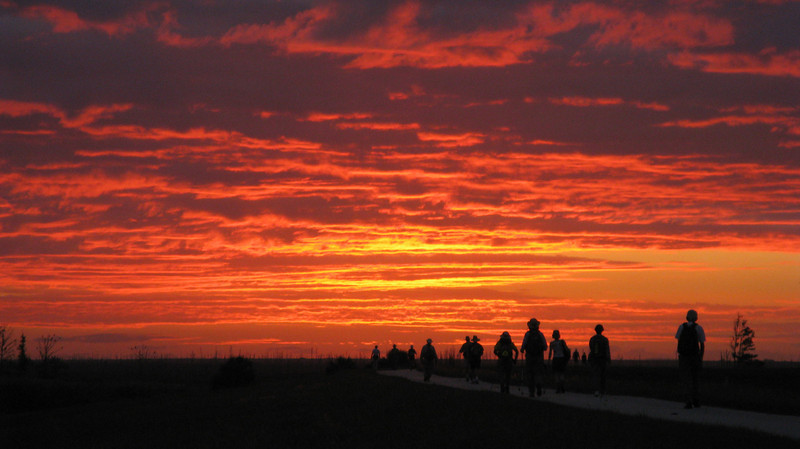 Sunrise Walkers<br /> Photo by Paul Cummings