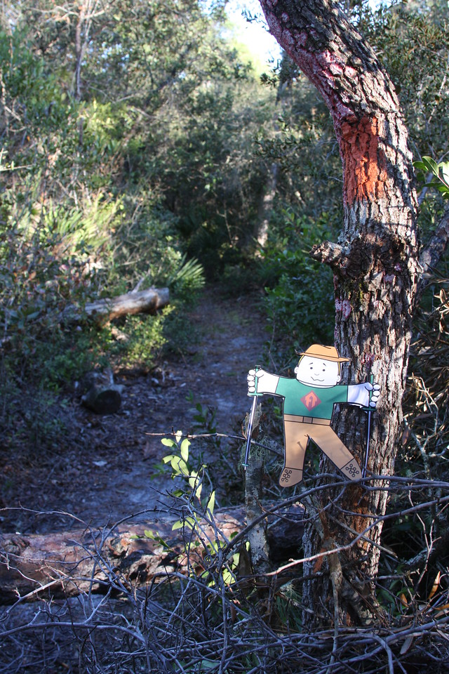 FIRST PLACE<br /> Flat Stanley Visits the Juniper Prairie<br /> Photo by Mike Umbarger