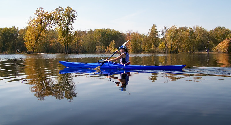 Fall Paddling (Third Place Winner: Adult People)