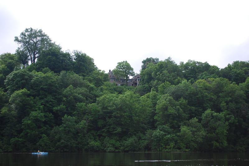 House on St. Croix and paddler