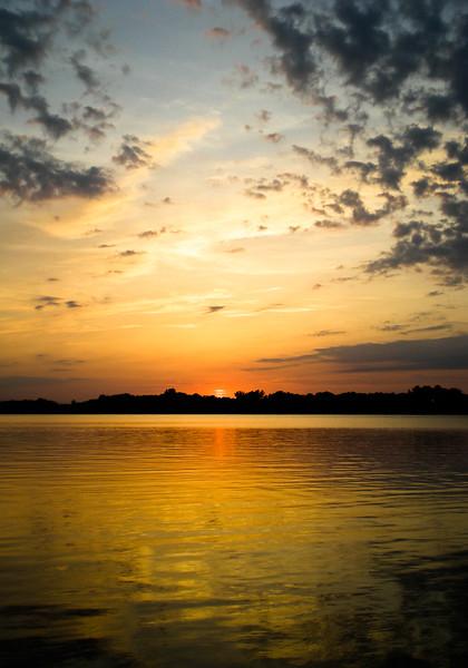 Autumn Sunset over the Lake