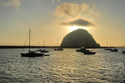 Moro rock in Moro Bay, California