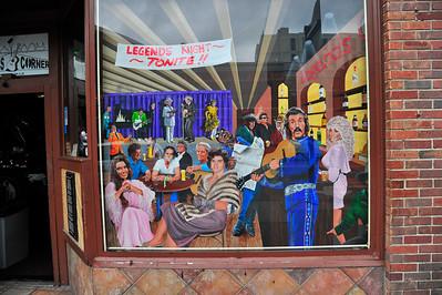Legends Corner Lounge Window sign