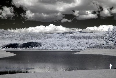 Boca Reservoir in infra-red with a 720 nm filter.