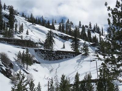 Snow Trails near Donner Summit