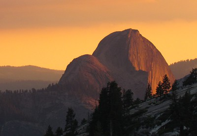 Half Dome At Sunset - 2016