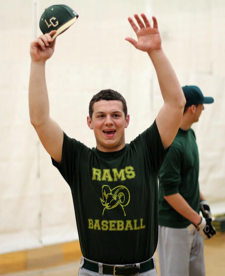 Lynn, Ma. 4-25-17. Matthew Lauria during baseball practice at Lynn Classical High School.