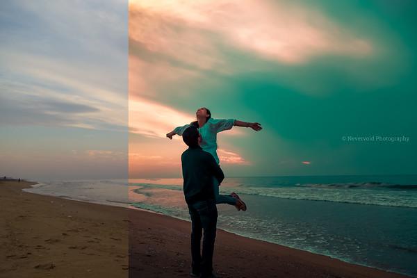 Couple photoshoot on the seashores