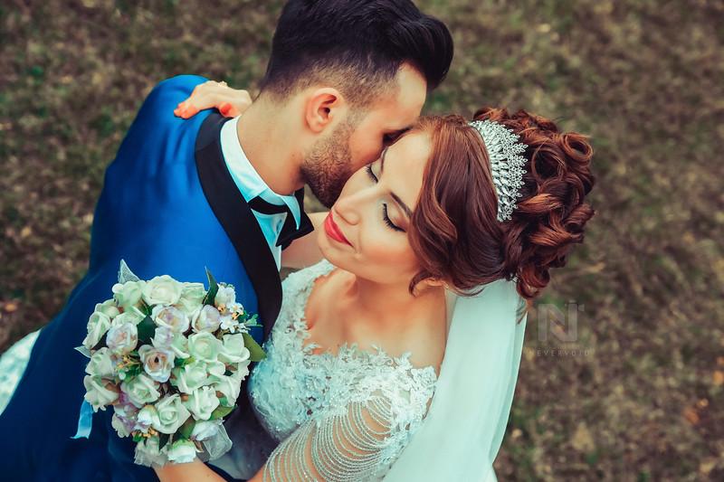 Creative wedding couple photo editing