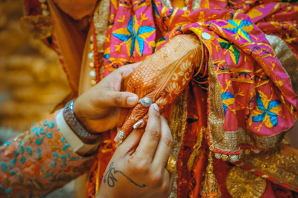 Creative candid wedding photo editing