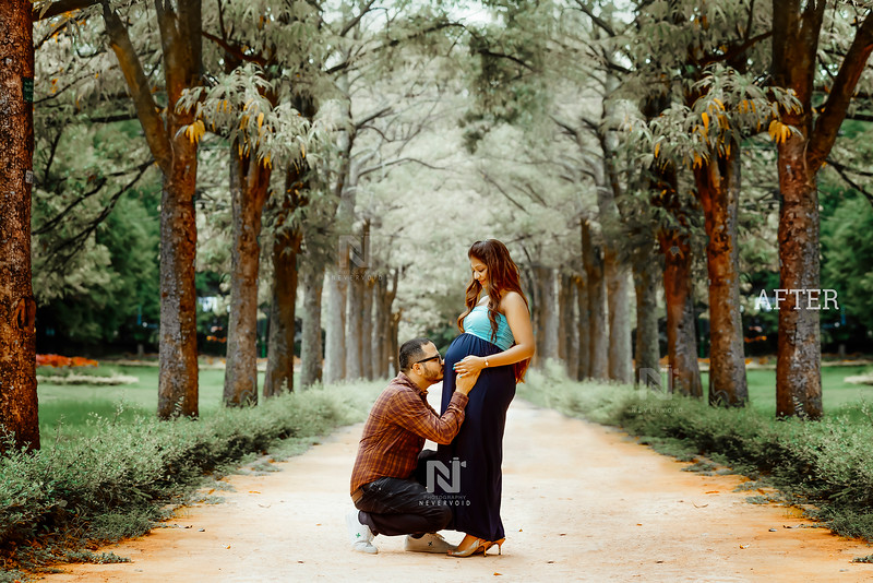 Fine-art maternity photography editing services
