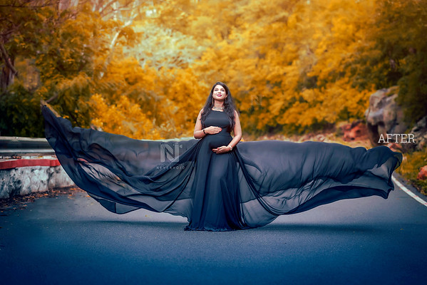 Fine art creative photo editing for Maternity photos