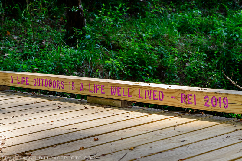 REI Bridge on the Spring Creek Nature Trail. Support from partners like REI make the trail possible.
