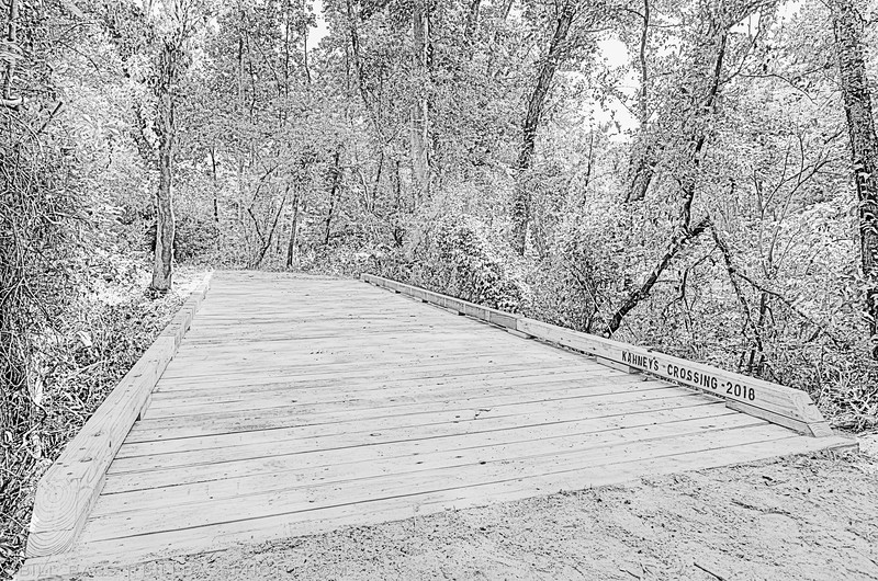 Kahney's Crossing on the Spring Creek Nature Trail - The Woodlands, Texas
