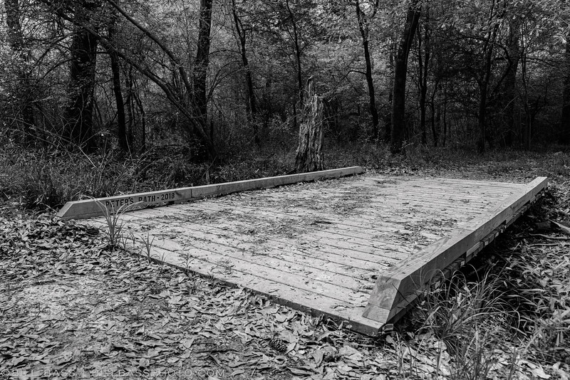 Peter's Path - Spring Creek Nature Trail. One of several bridges built by the volunteer trail crew. Many of the bridges are named after crew members and those that helped support the construction of the nature trail.