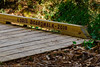 Lori's Boardwalk - Spring Creek Nature Trail. One of several bridges built by the volunteer trail crew. Many of the bridges are named after crew members and those that helped support the construction of the nature trail.