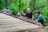 Bayou Land Conservancy  Trail Crew volunteers following the completion of the Kahney's Crossing bridge.