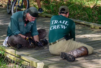 Bayou Land Conservancy trail crew volunteers put in thousands of hours per year building and maintaining the Spring Creek Nature Trail for all to enjoy.