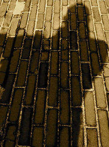Shadow on bricks  iPhone photo