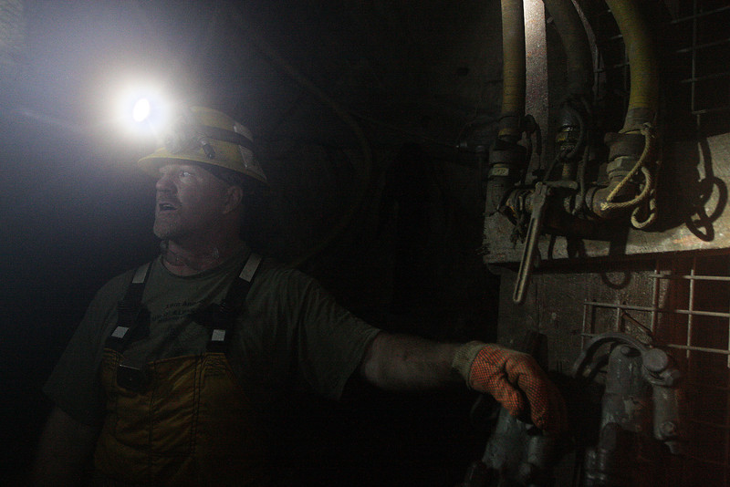Miner Tom Karst speaks at the 2400 foot level at the Galena Mine, in Wallace, Idaho on Wednesday January 4, 2012. (Young Kwak Special to the Pacific Northwest Inlander)