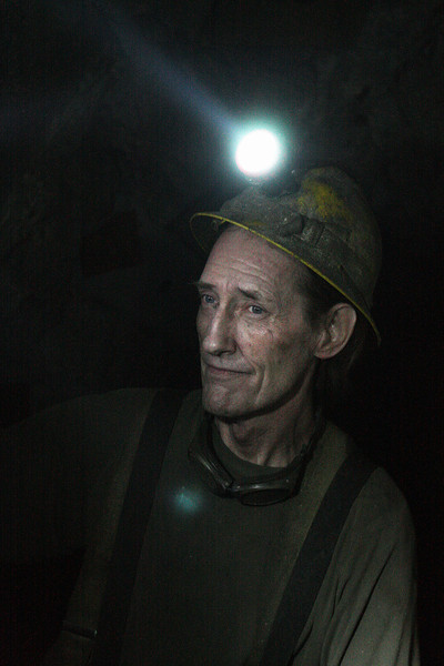 Miner Steve Lonn speaks at the 2400 foot level at the Galena Mine, in Wallace, Idaho on Wednesday January 4, 2012. (Young Kwak Special to the Pacific Northwest Inlander)