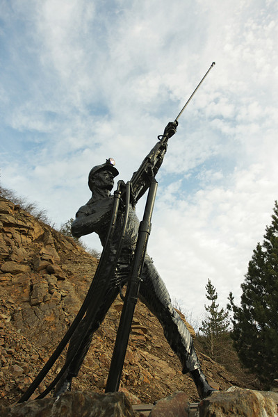 The Sunshine Miners Memorial is photographed, in Wallace, Idaho, on Wednesday, Januar 4, 2012. (Young Kwak Special to the Pacific Northwest Inlander)