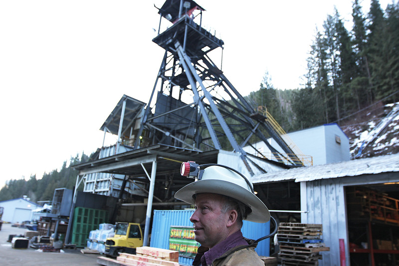 Safety/engineering technician Steven Knoll speaks in front of a stack at the Galena Mine, in Wallace, Idaho on Wednesday January 4, 2012. (Young Kwak Special to the Pacific Northwest Inlander)