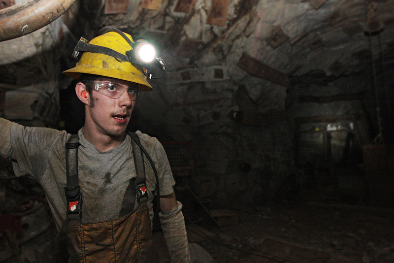 Miner Brandon Favar speaks at the 2400 foot level at the Galena Mine, in Wallace, Idaho on Wednesday January 4, 2012. (Young Kwak Special to the Pacific Northwest Inlander)